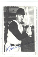1969 Topps Deckles 24 Maury Wills Montreal Expos Excellent