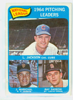 1965 Topps Baseball 10 NL Pitching Leaders Poor