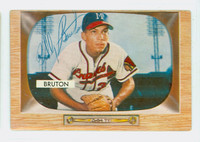Bill Bruton AUTOGRAPH d.95 1955 Bowman #11 Braves CARD IS CLEAN VG/EX