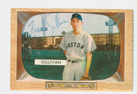 Frank Sullivan AUTOGRAPH d.16 1955 Bowman #15 Red Sox ROOKIE CARD IS CLEAN EX