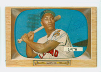 Al Smith AUTOGRAPH d.02 1955 Bowman #20 Indians CARD IS CLEAN EX