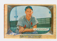 Red Schoendienst AUTOGRAPH d.18 1955 Bowman #29 Cardinals CARD IS CLEAN VG/EX