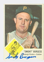 Smoky Burgess AUTOGRAPH d.91 1963 Fleer #55 Pirates CARD IS CLEAN VG