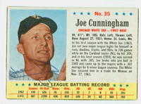 Joe Cunningham AUTOGRAPH 1963 Post #35 White Sox CARD IS VG/EX; AUTO CLEAN