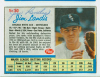 Jim Landis AUTOGRAPH d.17 1962 Post #50 White Sox CARD IS CLEAN EX