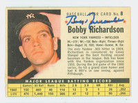 Bobby Richardson AUTOGRAPH 1961 Post #8 Yankees COMP CARD IS CLEAN EX