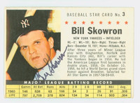Bill Skowron AUTOGRAPH d.12 1961 Post #3 Yankees COMP CARD IS CLEAN EX