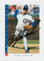Bob Scanlan AUTOGRAPH 1993 Score Cubs 