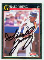 Gerald Young AUTOGRAPH 1991 Score Astros 