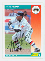 Mike Felder AUTOGRAPH 1992 Score Giants 