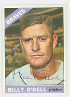 Billy O' Dell AUTOGRAPH d.18 1966 Topps #237 Braves CARD IS CLEAN VG/EX  [SKU:ODelB1849_T66BBNx]