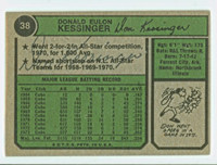 Don Kessinger AUTOGRAPH 1974 Topps Back Signed #38 Cubs 