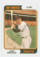 Chris Arnold AUTOGRAPH 1974 Topps #432 Giants CARD IS G/VG; AUTO CLEAN; SL CREASING  [SKU:ArnoC2535_T74BBNx]