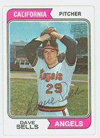 Dave Sells AUTOGRAPH 1974 Topps #37 Angels 