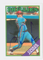 Chris James AUTOGRAPH 1988 Topps Phillies 