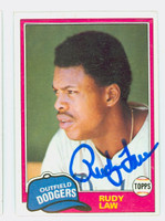 Rudy Law AUTOGRAPH 1981 Topps Dodgers 