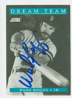 Wade Boggs AUTOGRAPH 1992 Score Dream Team Red Sox 