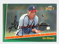 Gary DiSarcina AUTOGRAPH 1993 Score Select Angels 