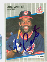 Joe Carter AUTOGRAPH 1989 Fleer Indians 