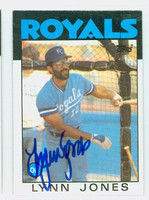Lynn Jones AUTOGRAPH 1986 Topps #671 Royals 