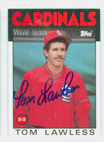 Tom Lawless AUTOGRAPH 1986 Topps #228 Cardinals 