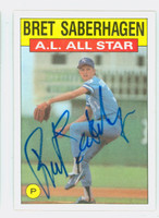 Bret Saberhagen AS AUTOGRAPH 1986 Topps All Star #720 Royals 