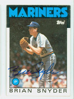 Brian Snyder AUTOGRAPH 1986 Topps #174 Mariners 