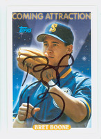 Bret Boone AUTOGRAPH 1993 Topps Coming Attraction Mariners 