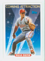 Brad Brink AUTOGRAPH 1993 Topps Coming Attraction Phillies 