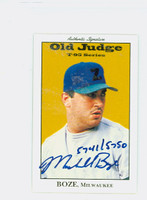 Marshall Boze AUTOGRAPH 1995 Signature T-95 Old Judge Design Autograph Issue Brewers CERTIFIED 