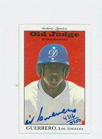 Wilton Guerrero AUTOGRAPH 1995 Signature T-95 Old Judge Design Autograph Issue Dodgers CERTIFIED 
