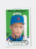 Butch Huskey AUTOGRAPH 1996 Signature T-96 Old Judge Design Autograph Issue Mets CERTIFIED   [SKU:HuskB12055_SIGN96Nxce]