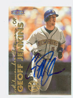 Geoff Jenkins AUTOGRAPH 1999 Fleer Tradition Brewers 