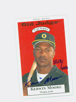 Kerwin Moore AUTOGRAPH 1996 Signature T-96 Old Judge Design Autograph Issue Athletics CERTIFIED   [SKU:MoorK12680_SIGN96Nxce]