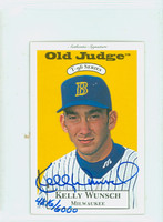 Kelly Wunsch AUTOGRAPH 1996 Signature T-96 Old Judge Design Autograph Issue Brewers CERTIFIED   [SKU:WunsK13904_SIGN96Nxce]