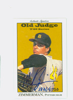 Mike Zimmerman AUTOGRAPH 1995 Signature T-95 Old Judge Design Autograph Issue Pirates CERTIFIED   [SKU:ZimmM14905_SIGN95Nxce]