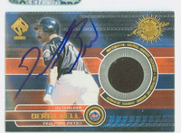 Derek Bell AUTOGRAPH 2001 Pacific Game Gear - Embedded Jersey Mets 