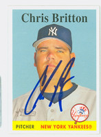 Chris Britton AUTOGRAPH 2007 Topps Heritage 1958 Topps Design Yankees 