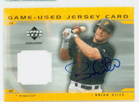 Brian Giles AUTOGRAPH 2001 Upper Deck Evolution - Embedded Jersey Pirates 
