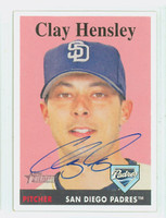Clay Hensley AUTOGRAPH 2007 Topps Heritage 1958 Topps Design Padres 