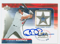 Graham Koonce AUTOGRAPH 2004 Upper Deck Authentic - Embedded Jersey USA 