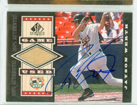 Jayson Werth AUTOGRAPH 1999 Upper Deck SP Top Prospects - Embedded Bat 