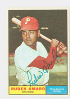 Ruben Amaro AUTOGRAPH d.17 1961 Topps #103 Phillies CARD IS CLEAN EXMT