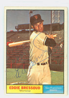 Eddie Bressoud AUTOGRAPH 1961 Topps #203 Giants CARD IS CLEAN EX