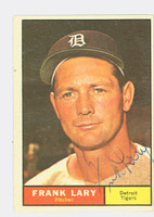 Frank Lary AUTOGRAPH 1961 Topps #243 Tigers CARD IS VG; AUTO CLEAN