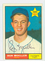 Ron Moeller AUTOGRAPH d.09 1961 Topps #466 Angels CARD IS VG/EX; AUTO CLEAN  [SKU:MoelR5151_T61BBCpl]