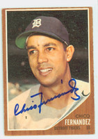 Chico Fernandez AUTOGRAPH d.16 1962 Topps #173 Tigers CARD IS VG/EX; OC T/B, AUTO CLEAN