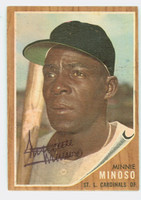 Minnie Minoso AUTOGRAPH d.15 1962 Topps #28 Cardinals CARD IS CLEAN EX