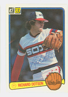 Richard Dotson AUTOGRAPH 1983 Donruss #319 White Sox 
