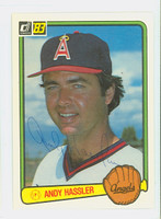 Andy Hassler AUTOGRAPH 1983 Donruss #290 Angels 